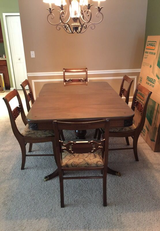 Finch Fine Furniture Duncan Phyfe Style Dining Table In Jacksonville FL