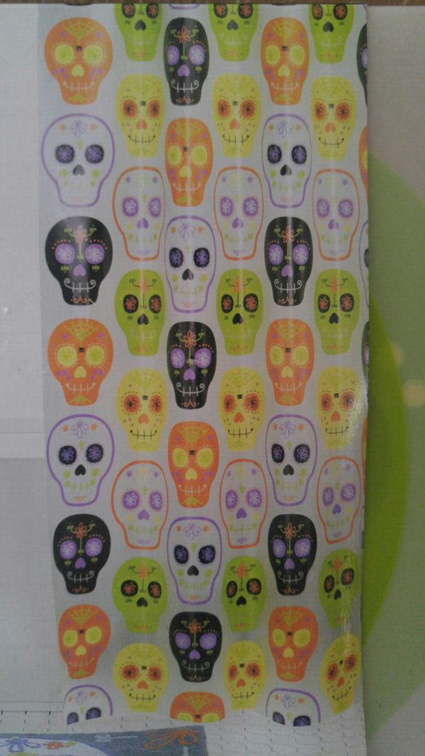 NEW Sugar Skull Shower Curtain Household In San Jose CA
