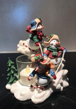 Home Interior Snowman Votive Candle Holder