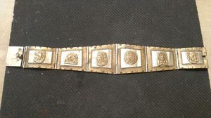 OLD 925 Mexico Silver Mayan Bracelet amazing