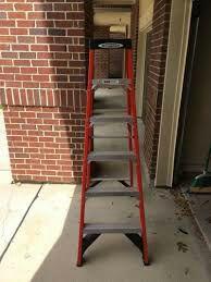 6 foot a frame ladder fiber glass 30