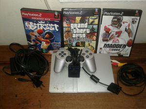 Ps2 with one controller and 3 games and memory card