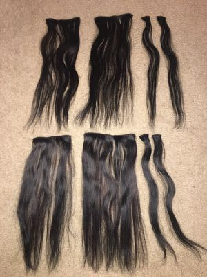18 in Human Hair Clip in Extensions