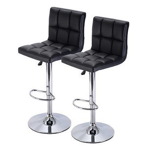 Brand new black leather bar stools