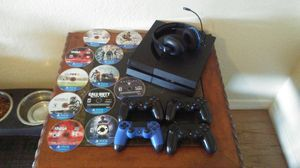 Ps4 with 15 games and 4 controllers