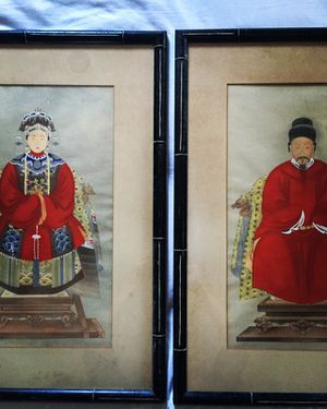 Vintage Chinese Ancestor Portraits