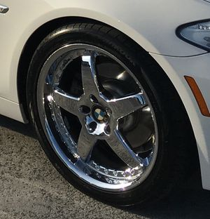 """20"""" Rims with almost new Hankook tires/TPMS Fit BMW"""