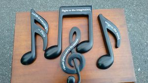 Music Notes with a message.