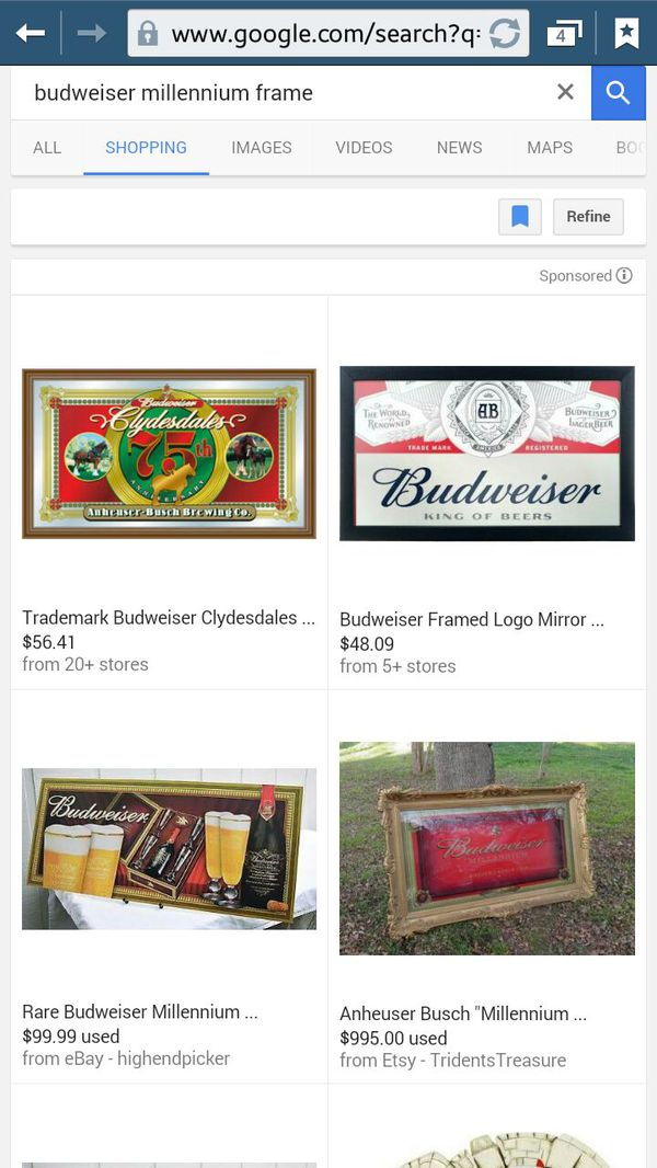 Looking for $750 obo.. never used budweiser millennium frame ...