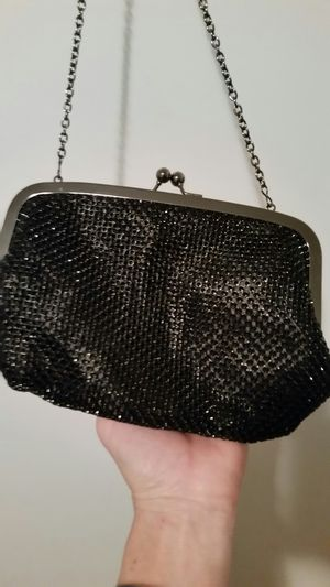 Small purse with long chain strap