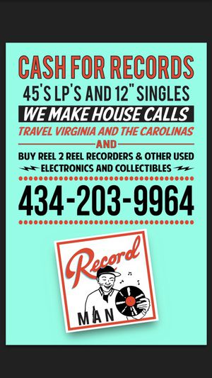 $$CASH for VINYL RECORDS and trucker hats