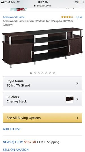 New Tv stand for 70 inch tv ( fully assembled )