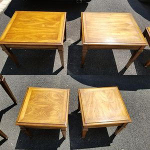 4 Walnut End Tables by Lane