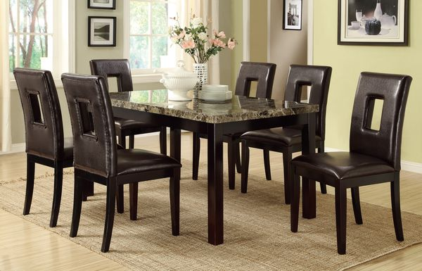 Faux Marble Dining Set Brand New Furniture In San Diego CA