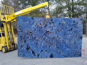 Granite slaps blue