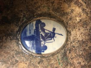 Vintage Authentic Delft Locket From Poland
