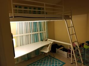 IKEA Loft Bed with attached Desk
