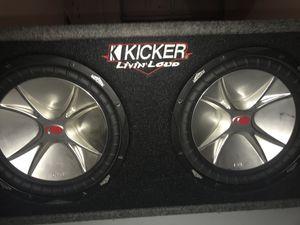 """Kicker CVR's 2 12"""" inch Subwoofers"""