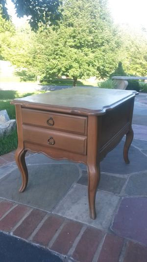 Solid Maple Wood end table