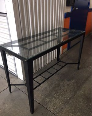 Glass Iron Side Table