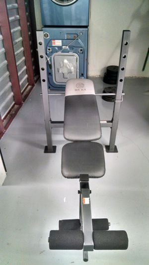 Golds Gym 200 lb Bench Set