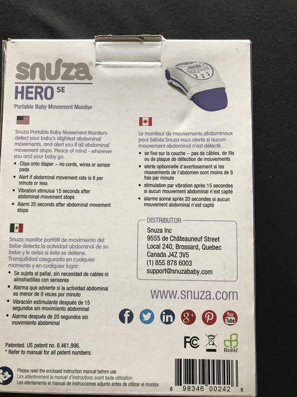 Snuza Hero Portable Baby Movement Monitor Baby Kids In Van Buren
