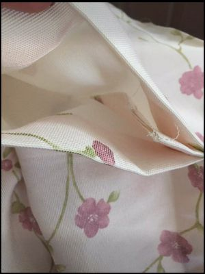 "Curtains 4 Panels 109"" Length. Ivory, Pink and Green with rod pocket"