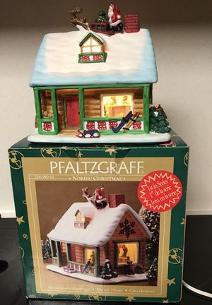 Pfaltzgraff Nordic Christmas Electric House