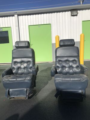 Leather Captain Chairs For A Conversion Van Has No Rips Tears And Is Soft