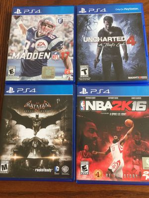Four Sony PS4 Games