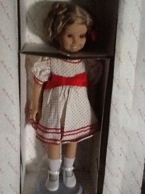 """New 18"""" Shirley Temple dress up doll with 8 outfits"""