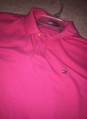 Pink Tommy Hilfiger button up size:large