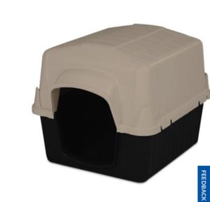 Insulated dog house and door