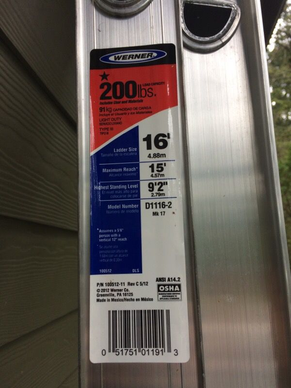 Extendable ladder general in woodinville wa offerup for Home depot woodinville