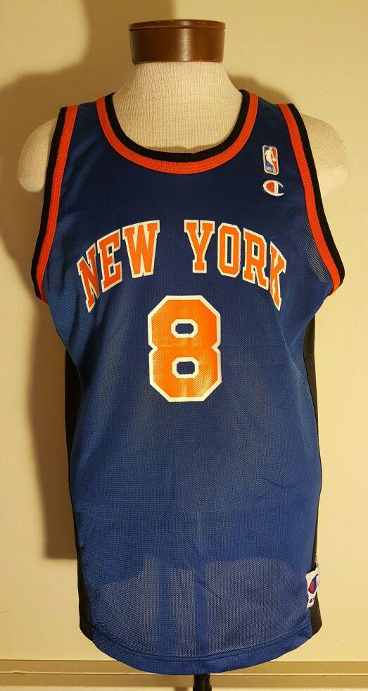 3f181f63daf ... vintage latrell sprewell new york knicks champion jersey size 48 ...