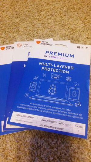 Brand New Sealed Total Defense Premium Anti-Spyware