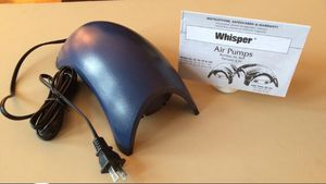 Whisper 100 aquarium air pump