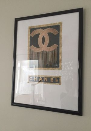Handmade 18x24in chanel wall art