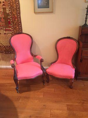 Antique slipper chairs