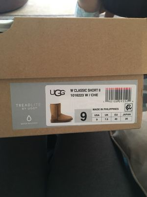 Brand New size 9 uggs classic chestnut