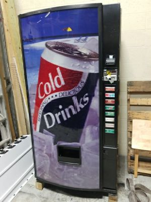 Drink vending machine fully working