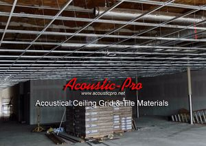 Ceiling Grid & Tiles & Insulation