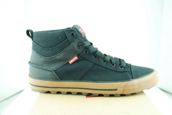 New In Box Levi's Ellison Mid Seersuckers Canvas Sneakers