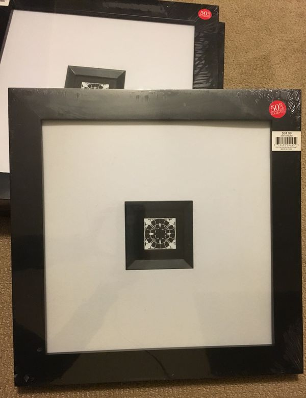 Aaron Brothers 12x12 W 3x3 Black Art Craft Frames (General) in ...