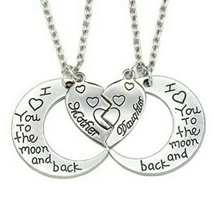 Silvertone Double Chain Mother/Daughter Necklace