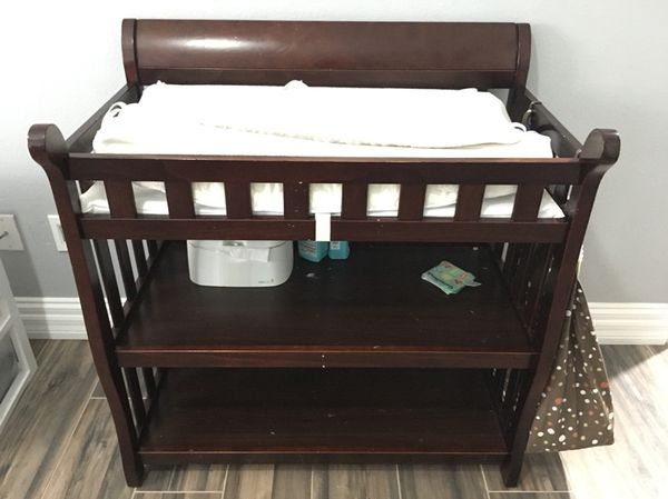 Delta Children Eclipse Dark Brown Espresso Cherry Changing Table From Sears Baby Kids In Orlando FL