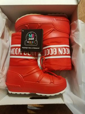 Kids Red Winter Rain Boot size 2/2.5