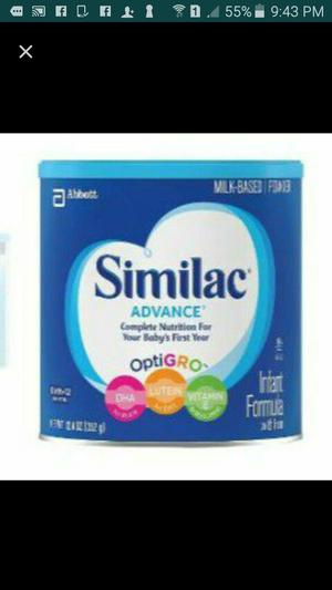 7 similac and 2 oatmeal