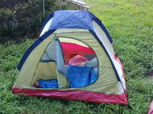 Camping tent for two 5x4 with sleeping bag and carriers