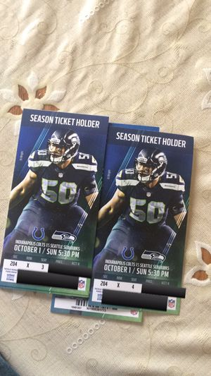 Seahawks vs Colts Tickets